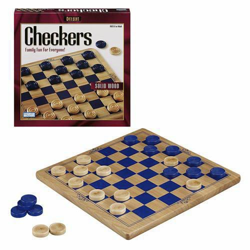 Deluxe  Wood Checkers