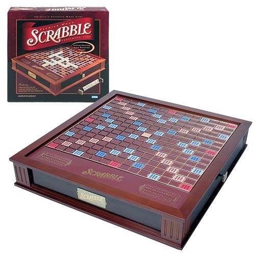 Scrabble Deluxe Premier Wood Edition Game