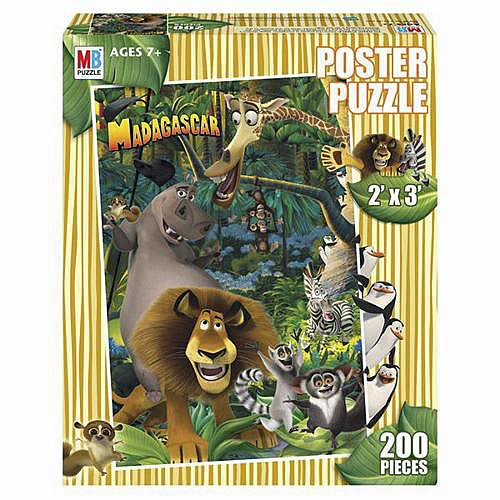 Madagascar Poster Puzzle - 200 Pieces
