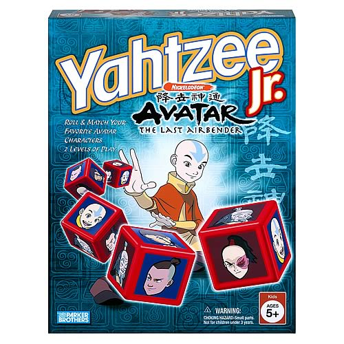 Yahtzee Jr. Game Nickelodeon Avatar Edition