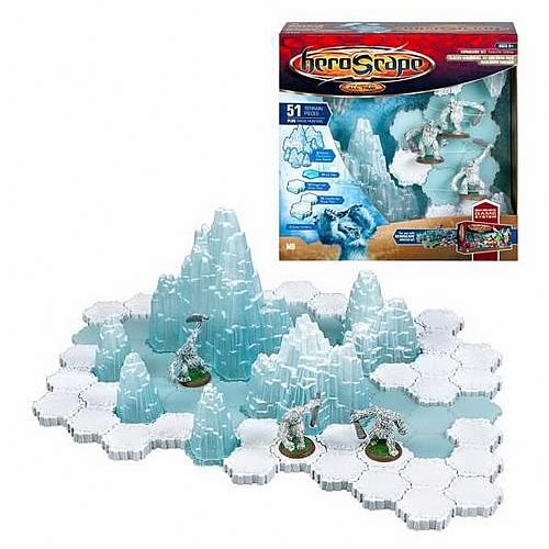 HeroScape Thaelen Tundra - Glacier Mountains, Ice and Snow
