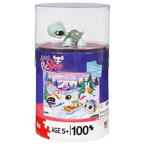 Littlest Pet Shop 100-Piece Puzzle with Special Pet