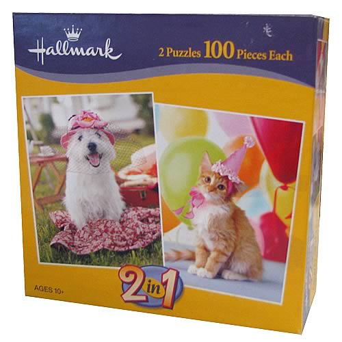 Hallmark 2-in-1 Mini Puzzle - 100 Pieces