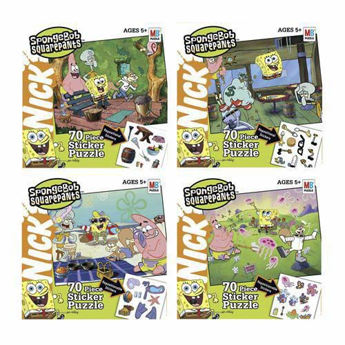 Nickelodeon SpongeBob Puzzle with Stickers - 70 Pieces