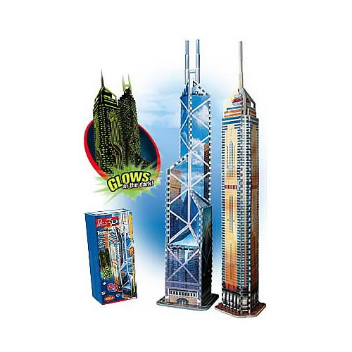 Puzz 3D Central Plaza and Bank of China Puzzle