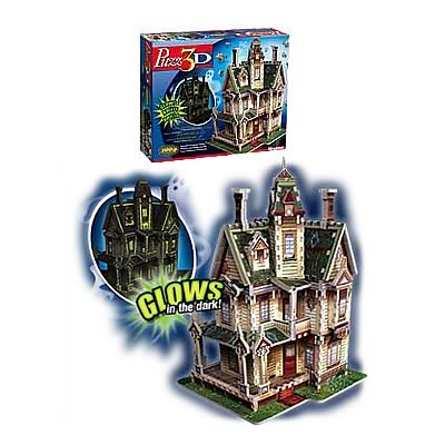 Puzz 3D Glow In The Dark Haunted House Puzzle