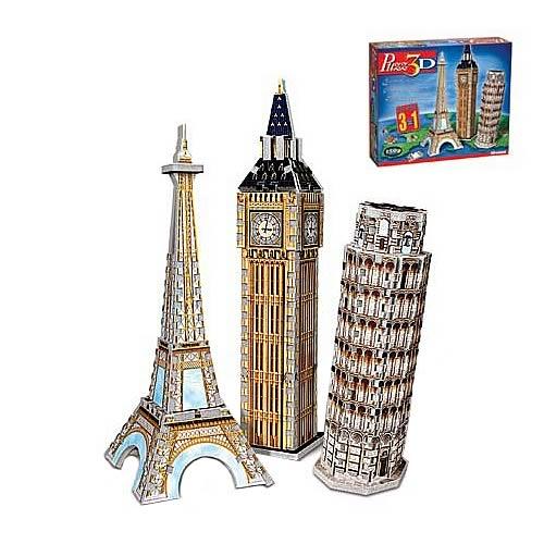 Puzz 3D European Landmarks Set 3D Puzzle