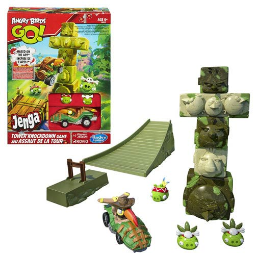 Angry Birds Go! Jenga Tower Knockdown Game