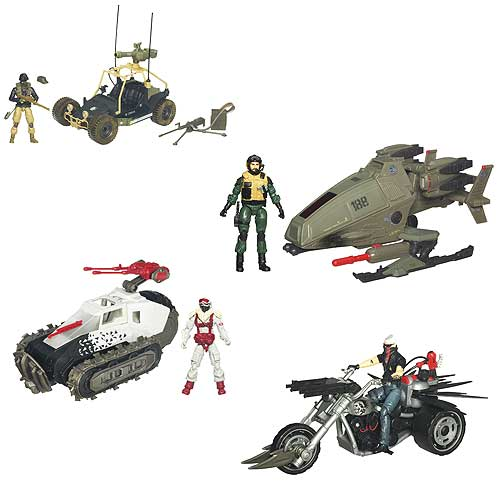 G.I. Joe Pursuit of Cobra Vehicles Waves 1 and 2 Set