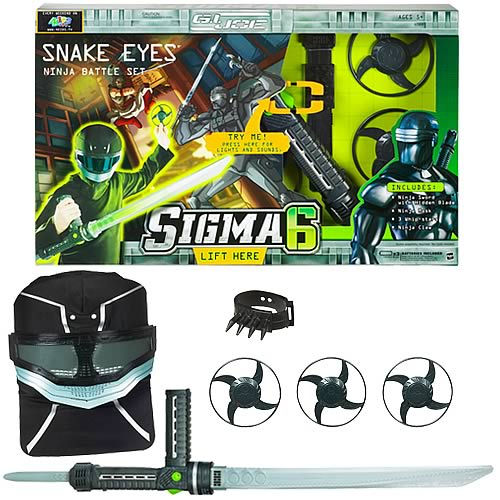 G.I. Joe Sigma 6 Snake Eyes Role Play Ninja Set