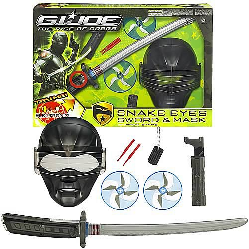 G.I. Joe Movie Snake Eyes Sword and Mask Set