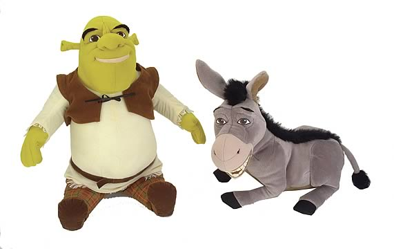 Shrek 2 Wise Crackin` Shrek & Donkey