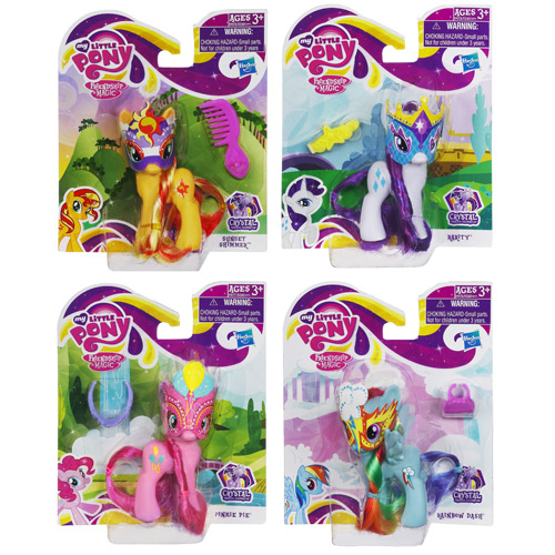 My Little Pony 2013 Crystal Ponies Wave 3 Set