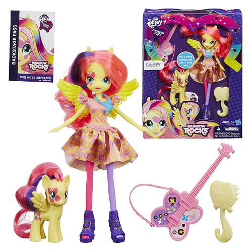 My Little Pony Rainbow Rocks Fluttershy Doll with Pony