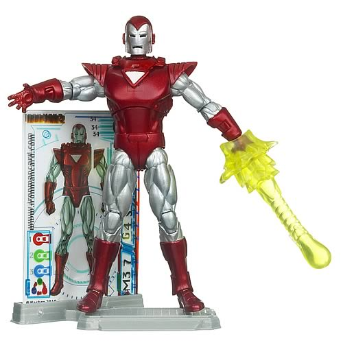 Iron Man Silver Centurion Comic Book Action Figure