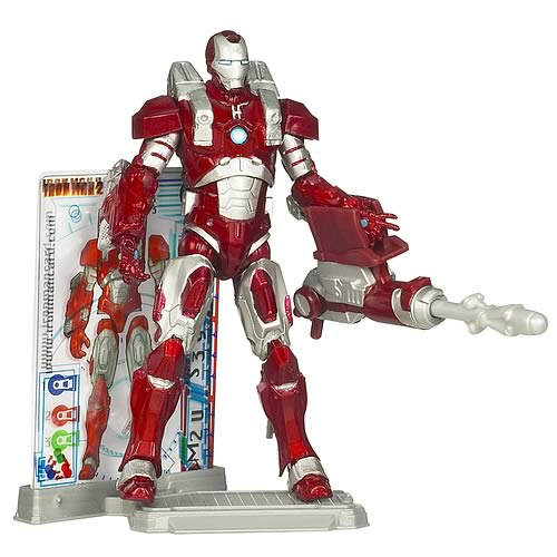 Iron Man 2 Movie Inferno Mission Armor Iron Man Figure