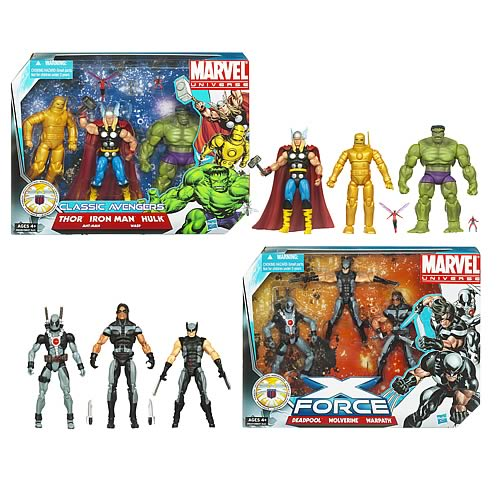 Marvel Universe Super Hero Team Action Figure Packs Wave 1