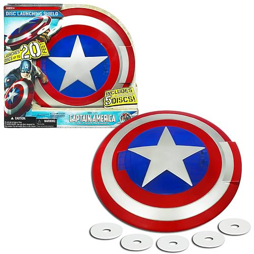 Captain America Movie Disc Launching Shield Toy