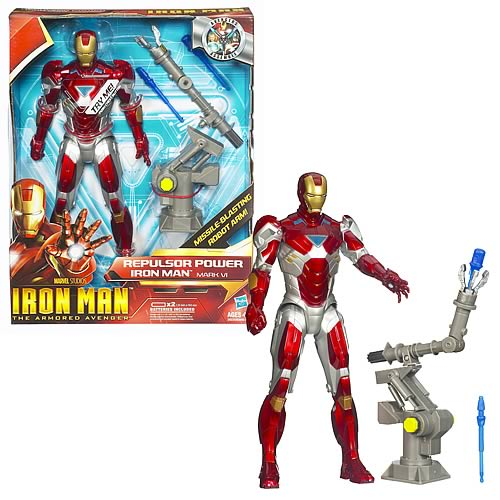 Repulsor Power Red/Silver Iron Man 2 Talking Action Figure