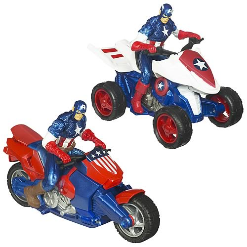 Captain America Movie Cruisers Vehicles Wave 1 Set