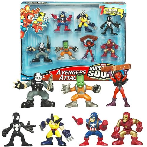 Marvel Superhero Squad Avengers Attack Figure Set