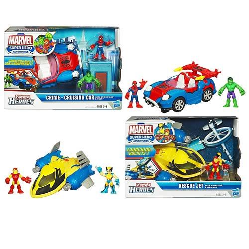 Marvel Super Hero Adventures Deluxe Vehicles Wave 1