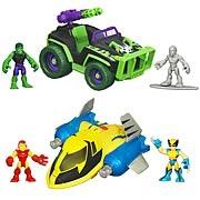 Marvel Super Hero Adventures Deluxe Vehicles Wave 3