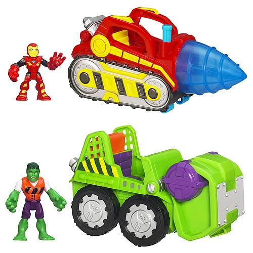 Marvel Super Hero Adventures Vehicles Wave 2 Set