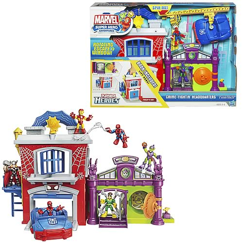 Marvel Super Hero Crime-Fighting Headquarters Playset