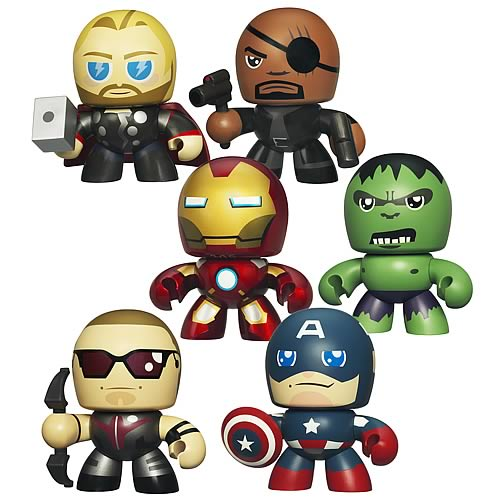 Avengers Movie Mini Mighty Muggs Vinyl Figures Wave 1 Set