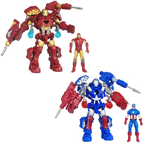 Avengers Movie Stark Tek Assault Armor Mechs Wave 1 Set