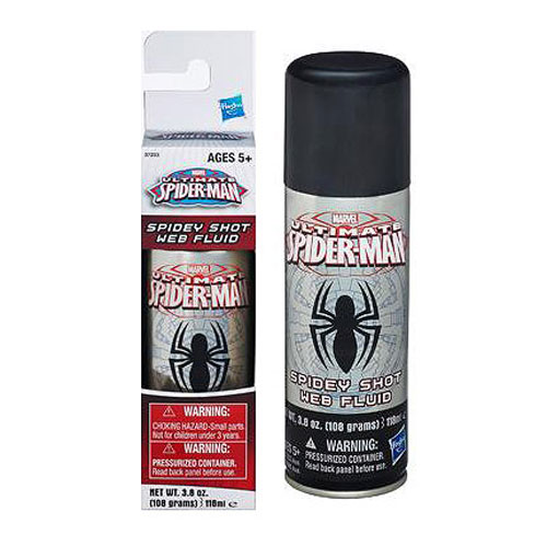 Ultimate Spider-Man Spidey Shot Web Fluid Can