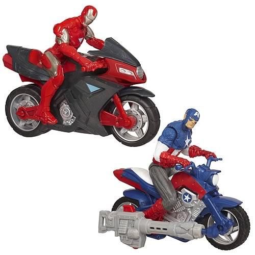 Avengers Movie Battle Chargers Vehicles Wave 1 Set