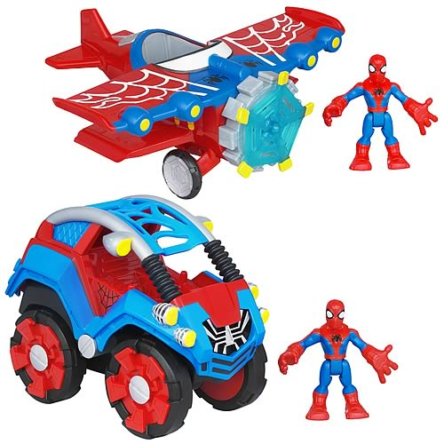 Spider-Man Super Hero Adventures Vehicles Wave 1 Set