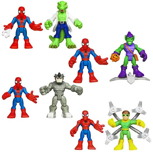 Spider-Man Super Hero Adventures Figure 2-Packs Wave 1 Set