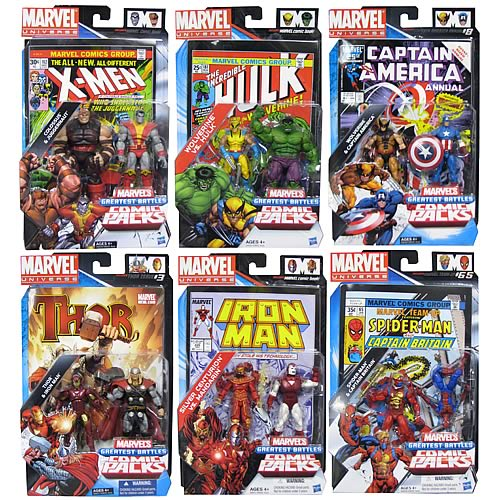 Marvel Universe Figures Comic Packs Greatest Battles Wave 1