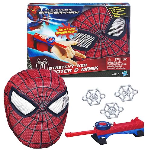 Amazing Spider-Man Stretchy Web Shooter and Mask Bundle
