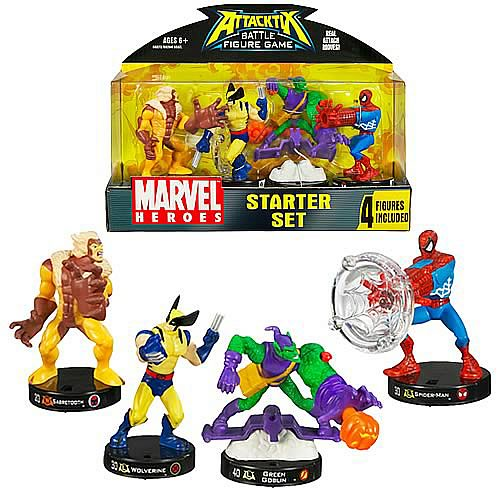 Marvel Universe Attacktix Starter Set Wave 1 Revision 2