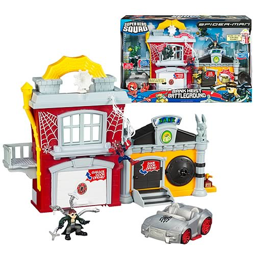 Spider Man Superhero Squad Bank Heist Battleground Playset