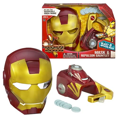 Iron Man Movie Mask & Repulsor Gauntlet Set