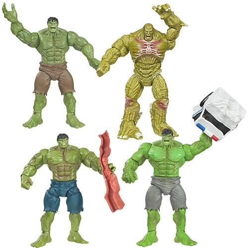Incredible Hulk Basic Movie Action Figures Wave 1 Set