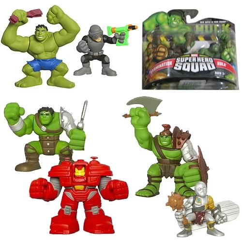 Incredible Hulk Superhero Squad Wave 1 Set