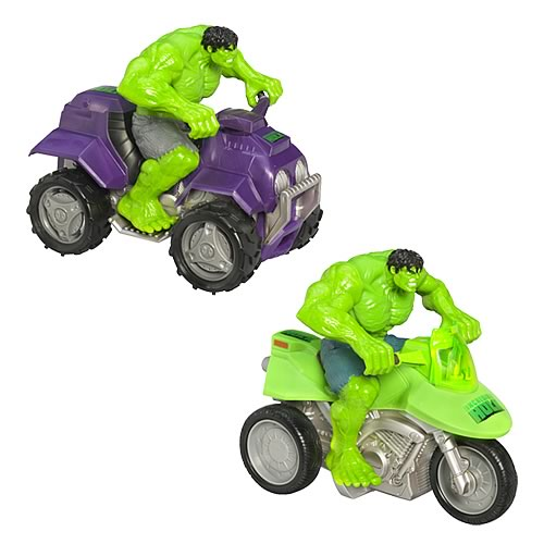 Incredible Hulk Zoom 'N Go Vehicles Wave 1 Set