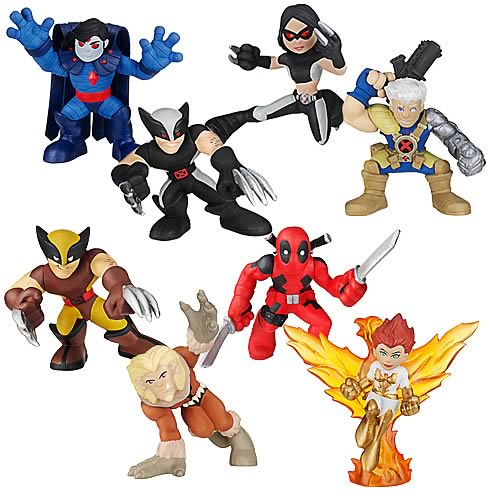 Wolverine Movie Figures: Superhero Squad Battle Packs Wave 1
