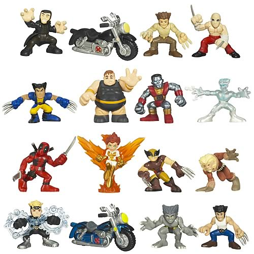 Wolverine Movie Figures: Superhero Squad Battle Packs Wave 2