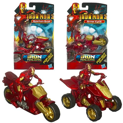 Iron Man 2 Iron Racers Vehicles Wave 1 Set