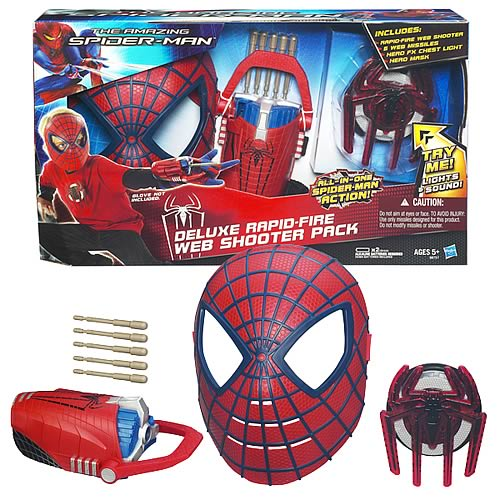 Amazing Spider-Man Deluxe Rapid-Fire Web Shooter Pack