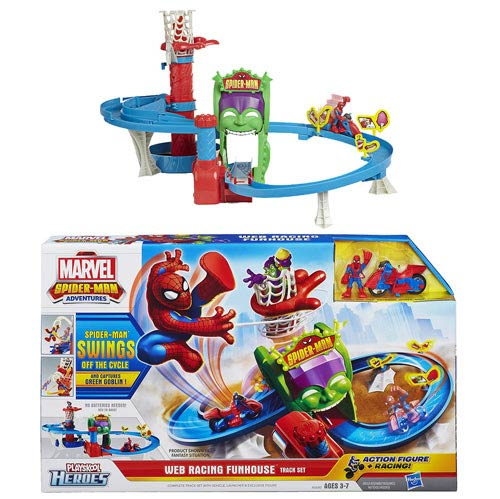 Spider-Man Web Racing Funhouse Playset