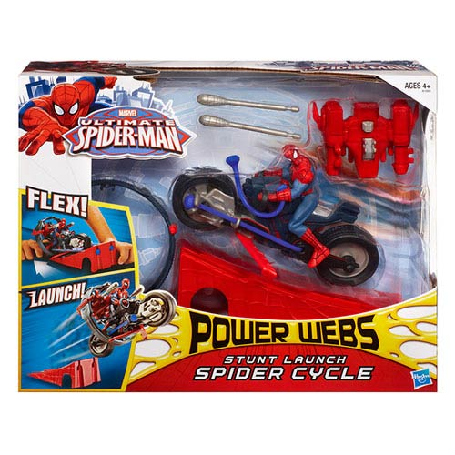 Ultimate Spider-Man Power Webs Stunt Launch Spider Cycle