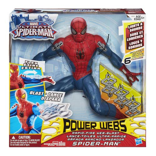 Spider-Man Rapid Fire Web Blast Spider-Man Figure
